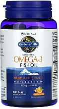 Parfumuri și produse cosmetice Ulei de pește supercritic Omega-3, cu aromă de portocală, 850 mg, capsule - Garden of Life Minami Supercritical Omega-3 Fish Oil