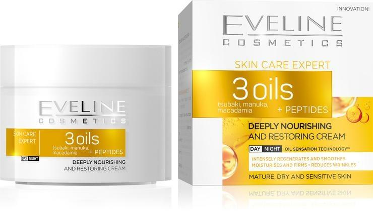 Cremă regenerantă pentru față - Eveline Cosmetics Skin Care Expert 3 Oils Cream