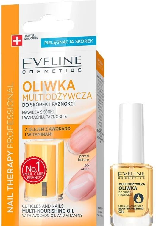 Ulei nutritiv pentru unghii și cuticule - Eveline Cosmetics Nail Therapy Professional