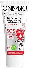 Parfumuri și produse cosmetice Cremă regenerantă pentru mâini - Only Bio Silver Med Care+ SOS Peony Flower Hand Cream