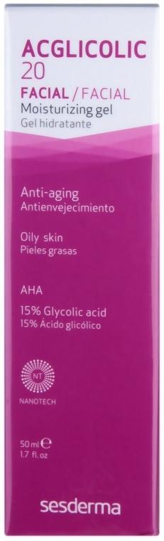 Cremă-gel hidratant - SesDerma Laboratories Acglicolic 20 Moisturizing Cream Gel — Imagine N1