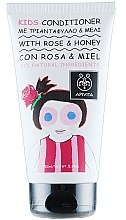 Balsam cu trandafir și miere de păr pentru copii - Apivita Babies & Kids Natural Baby Kids Conditioner With Honey & Rose Bulgarian — Imagine N1