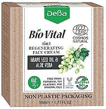 Parfumuri și produse cosmetice Cremă regenerantă pentru față 4in1 - DeBa Bio Vital Regenerating Face Cream 4in1