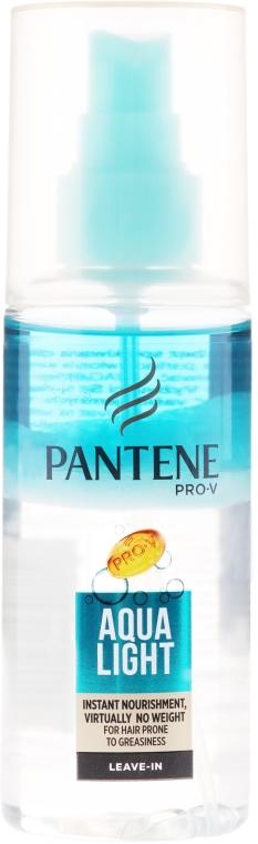 Spray ușor hidratant în două faze - Pantene Pro-V Aqua Light Overnight Nourishing Spray — Imagine N1