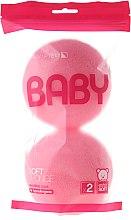 Parfumuri și produse cosmetice Set burete de baie, 2 buc., roz - Suavipiel Baby Soft Sponge