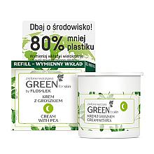 Parfumuri și produse cosmetice Cremă nutritivă cu mazăre de noapte pentru față, gât și decolteu - Floslek Green For Skin Nourishing Night Cream Refill