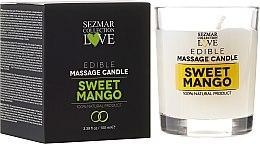 """Parfumuri și produse cosmetice Lumânare naturală pentru masaj """"Mango"""" - Sezmar Collection"""