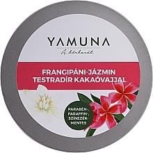 Parfumuri și produse cosmetice Scrub cu unt de cacao pentru corp - Yamuna Frangipani-Jasmine Body Scrub With Cocoa Butter