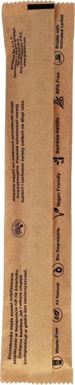 Periuță de dinți, din bambus, moale - Biomika Natural Bamboo Toothbrush — Imagine N3