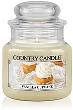 "Parfumuri și produse cosmetice Lumânare aromată ""Vanilla Cupcake"" (borcan) - Country Candle Vanilla Cupcake"