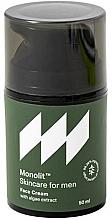 Parfumuri și produse cosmetice Cremă hidratantă cu extract de alge pentru față - Monolit Skincare For Men Face Cream With Algae Extract