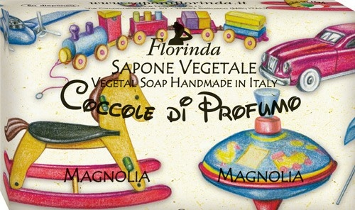 "Săpun natural pentru copii ""Magnolia"" - Florinda Sapone Vegetale Magnolia Vegetal Soap Handmade — Imagine N1"