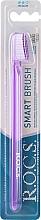 """Parfumuri și produse cosmetice Periuță de dinți """"Classic"""", medie, violet- transparentă - R.O.C.S."""