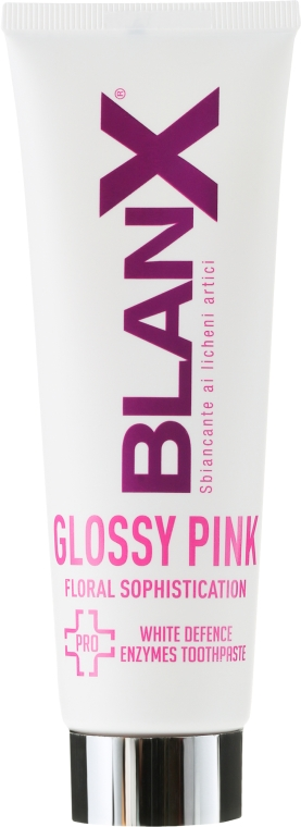Pastă de dinți - BlanX Pro Glossy Pink Toothpaste — Imagine N2