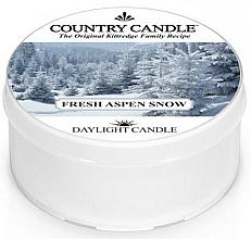 Parfumuri și produse cosmetice Lumânare de ceai - Country Candle Fresh Aspen Snow Daylight