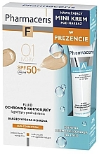 Parfumuri și produse cosmetice Set - Pharmaceris (tonal/fluid/30ml + f/cr/15ml)
