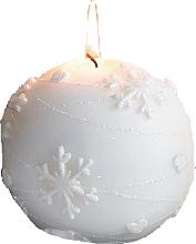 Parfumuri și produse cosmetice Lumânare decorativă, bilă albă, 8 cm - Artman Snowflake Application