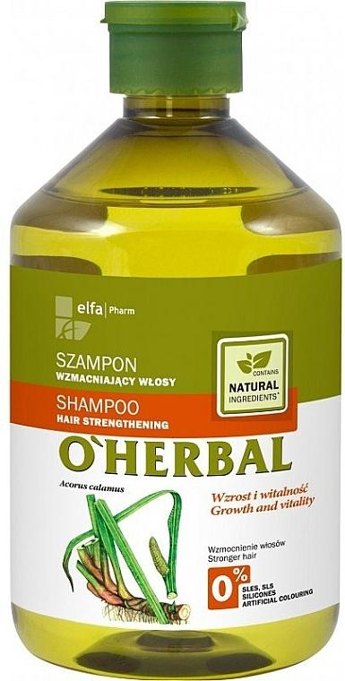 Șampon pentru întărirea părului cu extract de rădăcină de Calamus - O'Herbal