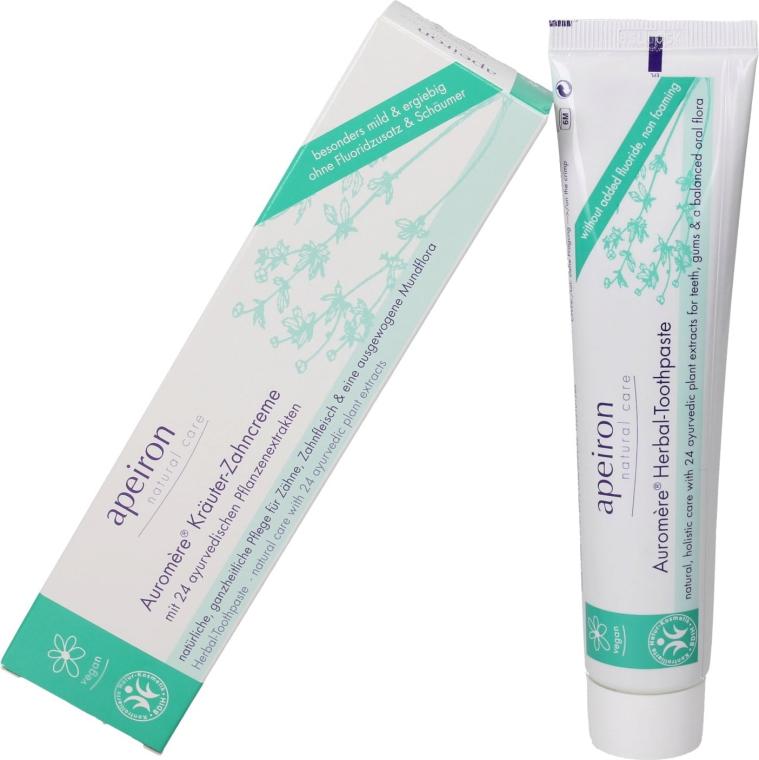Pastă de dinți cu un complex de extracte din 24 de plante - Apeiron Auromere Herbal Toothpaste