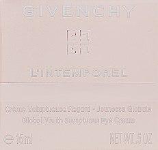 Parfumuri și produse cosmetice Cremă pentru pielea din jurul ochilor - Givenchy L`Intemporel Global Youth Sumptuous Eye Cream