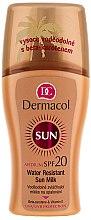 Parfumuri și produse cosmetice Lapte spray impermeabil pentru bronz - Dermacol Water Resistant Sun Milk SPF 20
