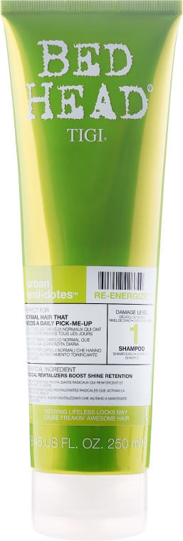 Șampon pentru păr normal - Tigi Bed Head Urban Antidotes Re-energize Shampoo — Imagine N1