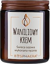 "Parfumuri și produse cosmetice Lumânare parfumată din soia ""Vanilla Cream"" - Bosphaera Vanilla Cream Candle"