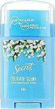 """Parfumuri și produse cosmetice Antiperspirant solid """"Delicat"""" - Secret Antiperspirant Stick"""