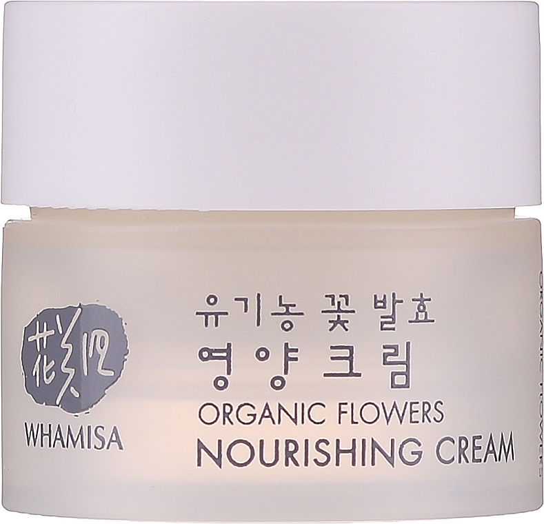 Cremă de față - Whamisa Organic Flowers Nourishing Cream (mini) — Imagine N1