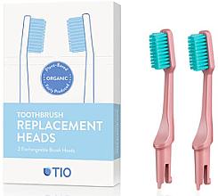Parfumuri și produse cosmetice Duze înlocuibile pentru periuța de dinți, moi, roz - TIO Toothbrush Soft