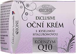 Parfumuri și produse cosmetice Cremă pentru pleoape - Bione Cosmetics Exclusive Organic Eye Cream With Q10