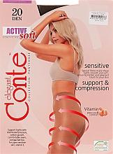 "Parfumuri și produse cosmetice Colanți ""Active Soft"" 20 Den, shade - Conte"