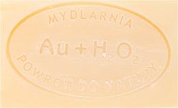 """Săpun natural """"Argint și Peroxid de hidrogen"""" - Powrot do Natury Natural Soap Matt Gold and Hydrogen Peroxide — Imagine N2"""