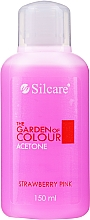 """Parfumuri și produse cosmetice Soluție pentru îndepărtarea ojei """"Căpșună"""" - Silcare The Garden Of Colour Aceton Strawberry Pink"""