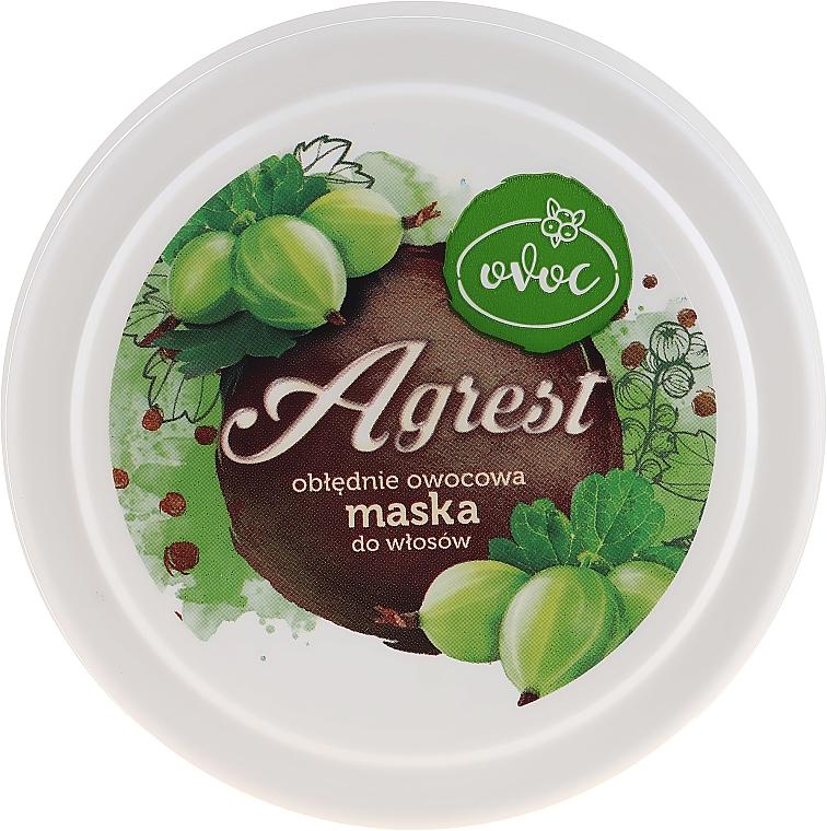 Mască cu extract de agrișe, alge marine și unt de Shea pentru păr - Ovoc Agrest Mask