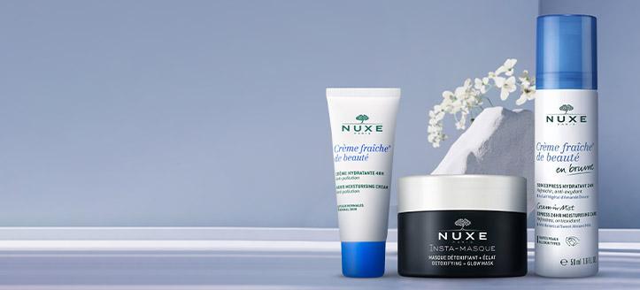 La achiziționarea produselor NUXE începând cu suma de 108 RON, primești cadou o cremă hidratantă pentru față
