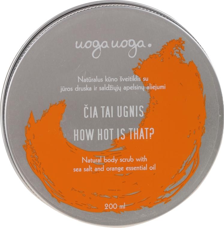 Scrub natural cu sare de mare și ulei de portocale pentru corp - Uoga Uoga Natural Body Scrub Sea Salt And Orange Essential Oil — Imagine N1