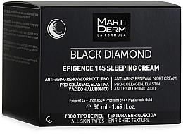 Parfumuri și produse cosmetice Cremă de noapte pentru față - MartiDerm Black Diamond Epigence 145 Sleeping Cream