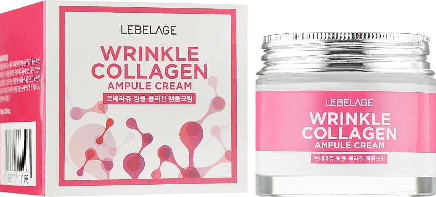 Cremă de ampulă cu colagen împotriva ridurilor - Lebelage Wrinkle Collagen Ampule Cream