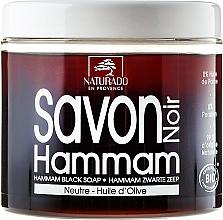 Parfumuri și produse cosmetice Săpun negru cu ulei de măsline - Naturado Black Soap Hammam With Olive Oil