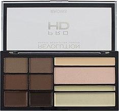 Parfumuri și produse cosmetice Paletă de farduri de sprâncene - Makeup Revolution HD Pro Brows