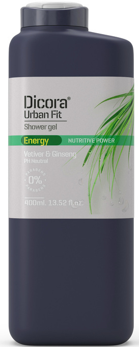"Gel de duș ""Vetiver și Ginseng"" - Dicora Urban Fit Shower Gel — Imagine N1"