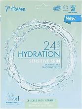 Parfumuri și produse cosmetice Mască pentru ten sensibil - 7th Heaven 24H Hydration Sensitive Skin Sheet Mask