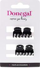 Parfumuri și produse cosmetice Agrafă pentru păr FA-9930, mini, negru, 4 buc. - Donegal Hair Clip