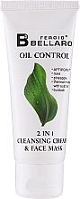 Parfumuri și produse cosmetice Cremă-mască 2 în 1 de curățare pentru față - Fergio Bellaro Oil Control 2 in 1 Cleansing Cream & Face Mask