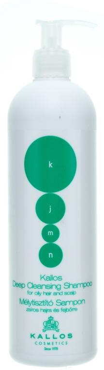 """Șampon pentru părul și scalpul gras """"Curățare"""" - Kallos Cosmetics Deep Cleansing Shampoo — Imagine N1"""