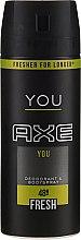 Parfumuri și produse cosmetice Deodorant-spray - Axe You Fresh Deodorant Spray