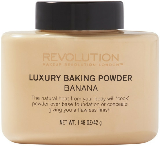 Pudră pulbere - Makeup Revolution Luxury Baking Powder Banana