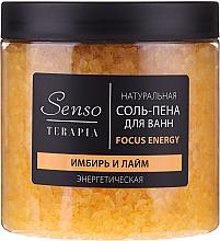 """Parfumuri și produse cosmetice Sare-spumă naturală de baie """"Ghimbir și Lime"""" - Senso Terapia Focus Energy"""