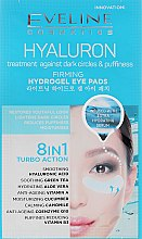 Parfumuri și produse cosmetice Patch-uri pentru ochi - Eveline Cosmetics Hyaluron Hydrogel Illuminating Eye Pads 8in1